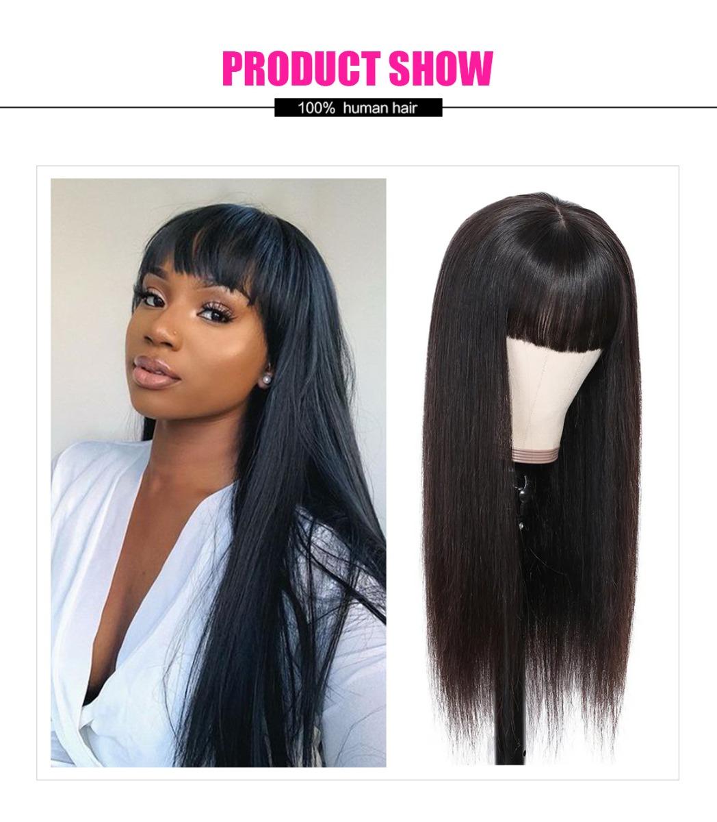 Machine Made straight hair wig