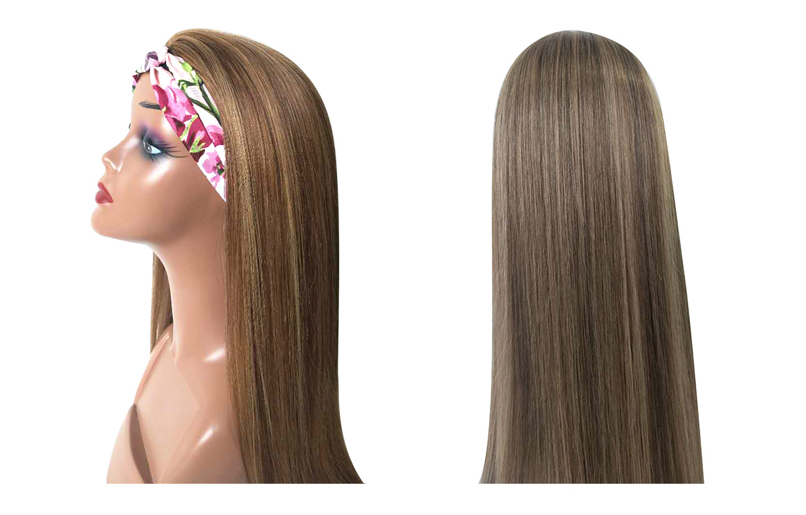 highlight pinano headband hair wig