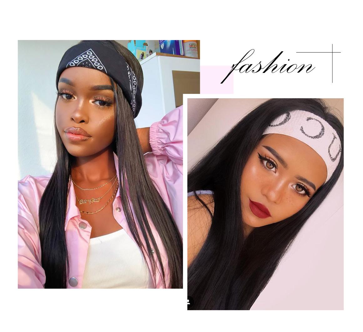 fashion headband glueless hair wig