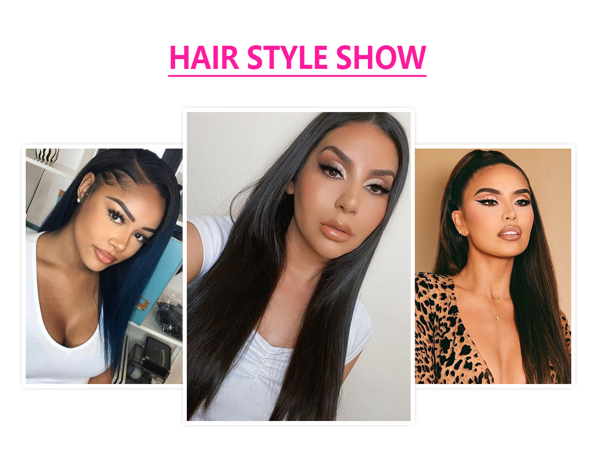 natural color straight hair wig
