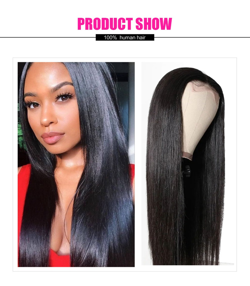 straight lace part hair wig