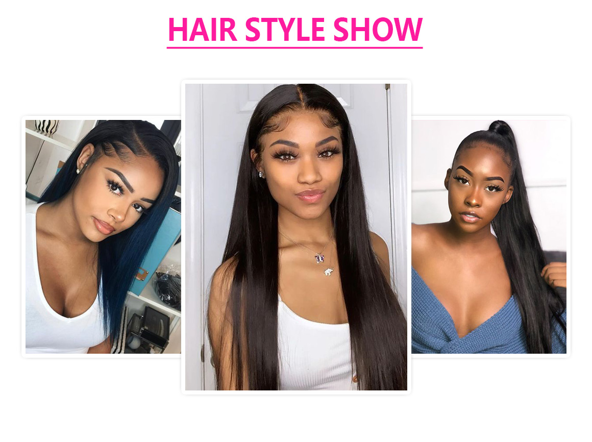 lace part hair wigs straight