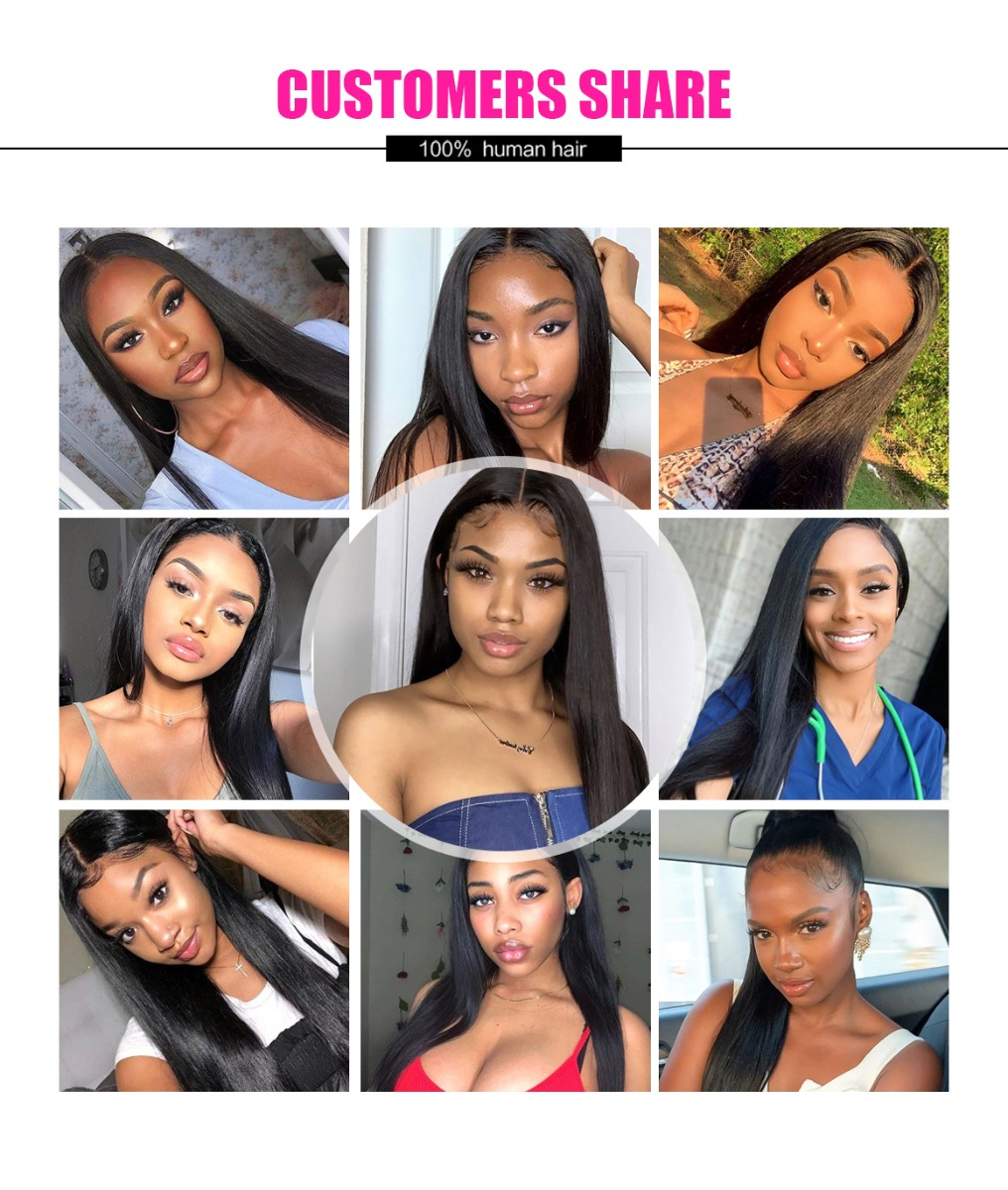 lace part closure straight hair wig